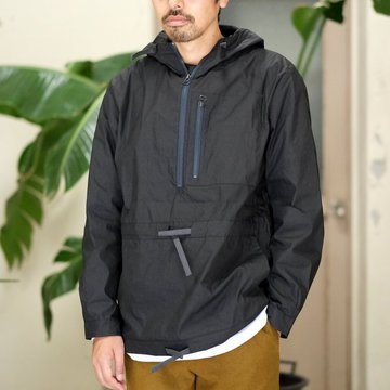【2017 AW】FRANK LEDER(フランク リーダー) WASHED GERMAN VENTILE COTTON WINDBREAKER -BLACK-  #0917108