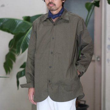 【2017 AW】FRANK LEDER(フランク リーダー) WASHED GERMAN VENTILE COTTON SHIRTJACKET -OLIVE-  #09141108