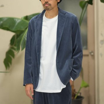 【17 AW】AURALEE(オーラリー)/  WASHED CORDUROY JACKET -DARK BLUE- #A7AJ01FN
