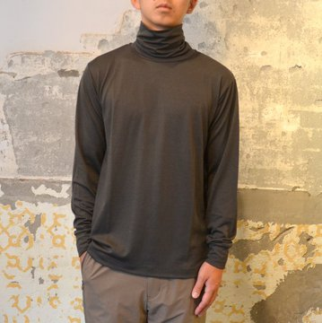 【17 AW】 DESCENTE PAUSE(デサント ポーズ)/ MERINO WOOL TURTLENECK -SBLK- #DUI5652