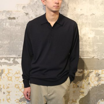 【17 AW】 AURALEE(オーラリー)/ WOOL CASHMER HIGH GAUGE KNIT -NAVY- A7AP02HG