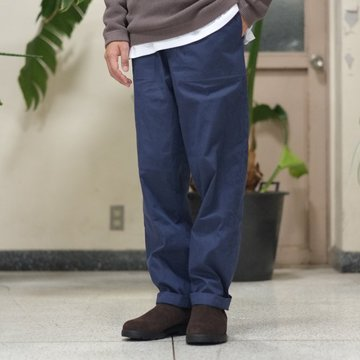 【2017 AW】FRANK LEDER(フランク リーダー) WASHED GERMAN VENTILE COTTON TROUSER -(39)NAVY-  #0913111