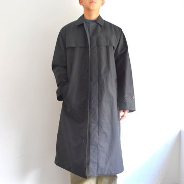 【17 AW】AURALEE(オーラリー)/ HIGH COUNT CLOTH BATTING LONG COAT -BLACK- #A7AC01BT