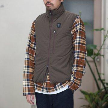 【2017 AW】South2 West8(サウスツーウエストエイト) Insulator Vest [Peach Skin] -Mocha-  #BG796