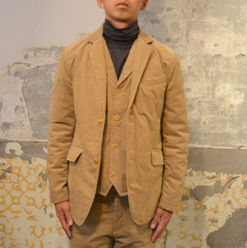 ts(s) (ティーエスエス) Thin Wale Stretch Corduroy Cloth Padded 2 Button Jacket -(59)Khaki- #ST37IJ02