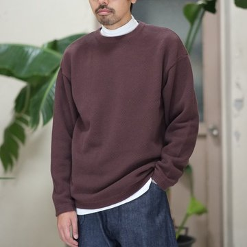 【2017 AW】crepuscule(クレプスキュール)Moss Stitch L/S Knit  -BROWN- #1703-002