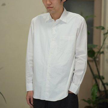 【2017 AW】COMOLI (コモリ)  ダブルフロントシャツ -WHITE- #L03-02001