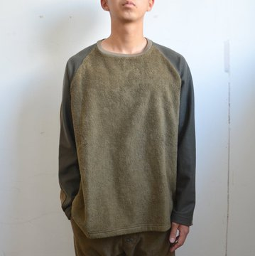THING FABRICS(シング ファブリック)/ 4 change cloth long sleeve (Short Pile) -Olive- #TFIN-1305