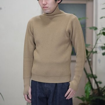ANDERSEN-ANDERSEN(アンデルセン アンデルセン) SAILOR SWEATER TURTLE NECK(7Gauge) -CAMEL-  #AA-72105-CML