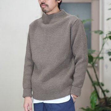ANDERSEN-ANDERSEN(アンデルセン アンデルセン) SAILOR SWEATER CREW NECK(5Gauge) -NATURAL TAUPE- #AA-72115-NTL