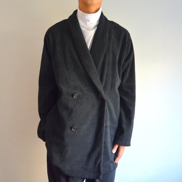 THING FABRICS(シング ファブリック)/ Double breasted (Short Pile) -Black-