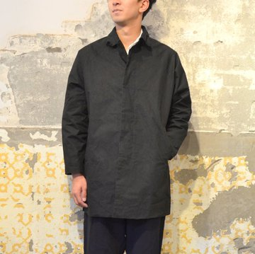 【17 AW】CASEY CASEY(ケーシーケーシー)/WAX COAT-BLACK- #09HM49