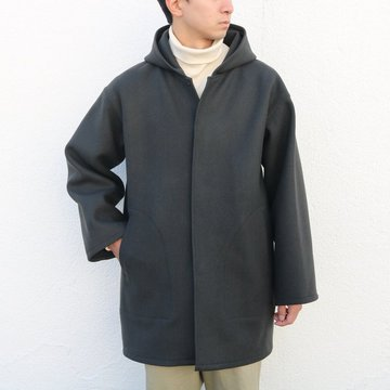 【17 AW】AURALEE(オーラリー)/ HEAVY MELTON HOODED COAT -INK BLACK- #A7AC02HM