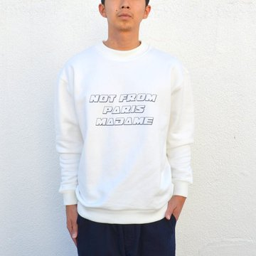 DROLE DE MONSIEUR(ドロールドムッシュ) / NFPM SLOGAN SWEATER -WHITE- AH1702W