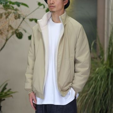 YAECA(ヤエカ) スタンドネックジップジャケット - BEIGE- #17451