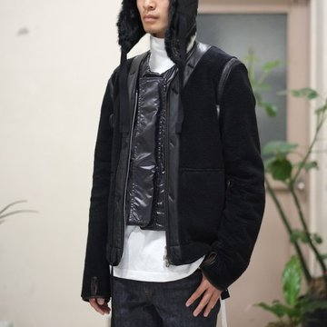 【30% OFF SALE】【2017 AW】TAKAHIRO MIYASHITA The SoloIst.(タカヒロミヤシタ ザ ソロイスト) Zip up Collarless Liner Jacket -BLACK- #sj0019bAW17