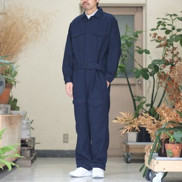 【30% OFF SALE】【2017 AW】Graphpaper(グラフペーパー) Non Fade Denim Jump Suit -NAVY- #GM173-6001