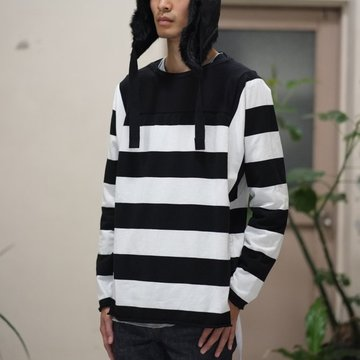 【2017 AW】TAKAHIRO MIYASHITA The SoloIst.(タカヒロミヤシタ ザ ソロイスト) football l/s tee -WHITE/BLACK- #swc0014cAW17