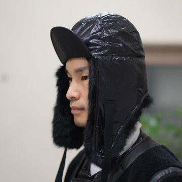 【30% OFF SALE】【2017 AW】TAKAHIRO MIYASHITA The SoloIst.(タカヒロミヤシタ ザ ソロイスト) earmuffs cap -BLACK- #sa0007AW17