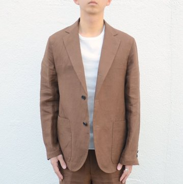 【18 SS】AURALEE(オーラリー)/ LINEN GABARDINE JACKET -BROWN- A8SJ01LG