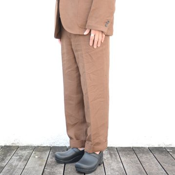 【18 SS】AURALEE(オーラリー)/ LINEN GABARDINE SLACKS -BROWN- A8SP03LG