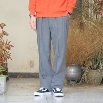 【2017 AW】NEAT(ニート)/ Cotton Wool Hop Sack BELTLESS -GRAY- #17-02HSB