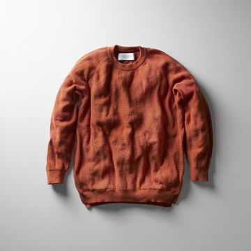 【18 SS】Curly(カーリー) ASSEMBLY CREW KNIT -ORANGE- #181-35012