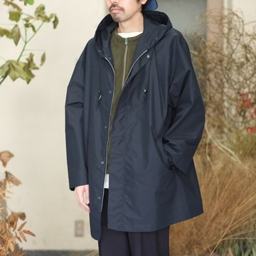【18 SS】AURALEE(オーラリー) / FINX POLYESTER HOODED COAT -NAVY CHAMBRAY- #A8SC03FP