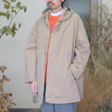 【18 SS】AURALEE(オーラリー) / FINX POLYESTER HOODED COAT -BEIGE CHAMBRAY- #A8SC03FP