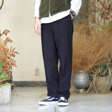 【2017 AW】NEAT(ニート)/ Cotton Wool Hop Sack BELTLESS -NAVY- #17-02HSB
