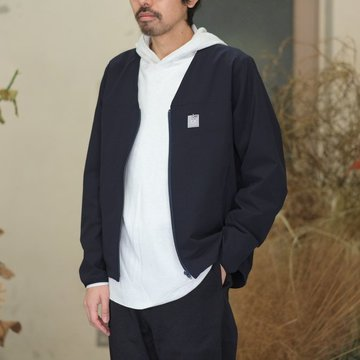 【2018 SS】NEEDLES (ニードルス) Warm-up V Neck Jacket [Ripstop] -NAVY- #CH270