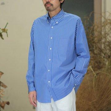 Graphpaper(グラフペーパー) / Thomas Mason L/S B.D Shirt -BLUE STRIPE- GM181-50085