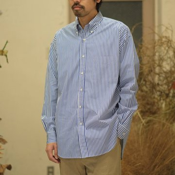 Graphpaper(グラフペーパー) / Thomas Mason L/S B.D Shirt -STRIPE- GM181-50085