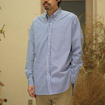 Graphpaper(グラフペーパー) / Thomas Mason L/S B.D Shirt -STRIPE- GM181-50085