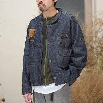 【2018 SS】South2 West8(サウスツーウエストエイト) E.H. Fishing Jacket [C/L Denim] -INDIGO-  #CH784