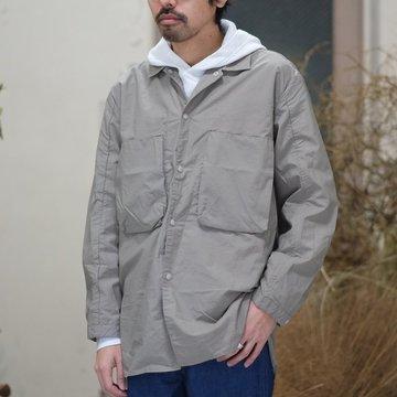 blurhms(ブラームス) / Nylon Utility Shirt Jacket -GREY BEIGE- BHS-18SS0006
