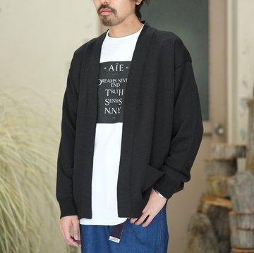 【2018 SS】COMOLI (コモリ)  7G ニットカーディガン -BLACK- #M01-06002
