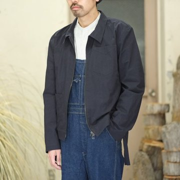 【2018 SS】FRANK LEDER(フランク リーダー) BRUSHED COTTON BOMBER JACKET -NAVY-  #0217005