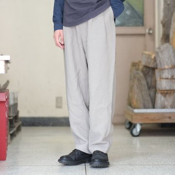 【2018 SS】FRANK LEDER(フランク リーダー) STONEWASHED LINEN TROUSER -(92)LT GRAY-  #0213028