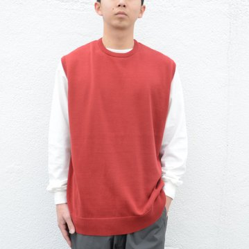 【2018 SS】Graphpaper(グラフペーパー) / Suvin Vest -RED- GM181-80078
