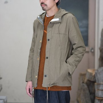 【2018 SS】FRANK LEDER(フランク リーダー) TRIPLE WASHED THIN COTTON HOOD JACKET -BEIGE-  #0212013