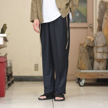 【2018 SS】NEAT(ニート)/ Limited Super140's Summer Wool BELTLESS【E-Thomas】 -NAVY- #18-01ETB