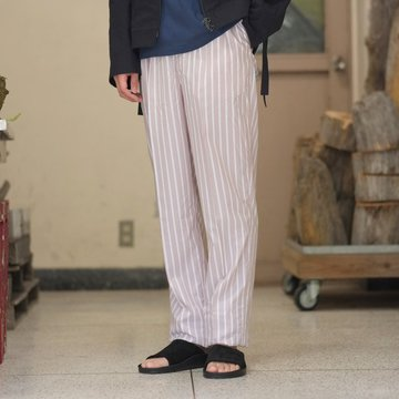 【2018 SS】NEAT(ニート)/ Stripe Shirt Cloth BELTLESS -PINK BEIGE- #18-01SCB