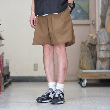 【2018 SS】NEAT(ニート)/ Vintage Cotton/Linen GURKHA SHORTS -BROWN- #18-01CLG