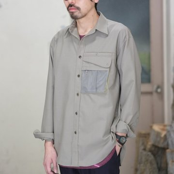 【2018 SS】BROWN by 2-tacs (ブラウンバイツータックス) OUTER SHIRT -Khaki- #B190-S003