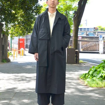【2018 SS】 too good(トゥーグッド) / THE HOUSEKEEPER COAT COTTON PERCALE -COAL- #GBMALSTU7LON