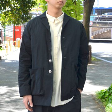 【2018 SS】 too good(トゥーグッド) / THE PHOTOGRAPHER JACKET PLAIN COTTON -COAL- #GBMALSTU1013LON