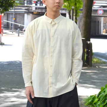 【2018 SS】 too good(トゥーグッド) / THE DRAUGHTSMAN SHIRT COTTON CALICO LW -RAW- #GBCHITRA45LON-1