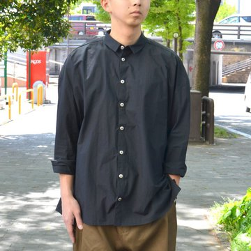 【2018 SS】 too good(トゥーグッド) / THE DRAUGHTSMAN SHIRT COTTON PERCALE -COAL- #GBCHITRA45LON-2