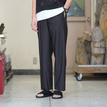 【2018 SS】 AURALEE(オーラリー) SELVEDGE WEATHER CLOTH EASY PANTS -INK BLACK- #A8SP03WC